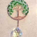 Crystal-Sun-Catcher-Tree-of-Life-Window-Ornament-with-30mm-Crystal-Ball-Prism-Handmade-Window-Ornament-Feng-Shui-Healing-Crystal-Gemstone-Wire-Tree-SuncatcherGreen-Crystals-0-1
