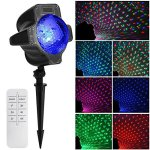 ELEOPTION-Christmas-Projector-Light-Indoor-Outdoor-RedGreenBlue-RGB-Moving-Star-Starry-Light-Show-Projector-Led-for-Halloween-Christmas-Party-Wedding-Landscape-Garden-Tree-with-7-Lighting-Pattern-0