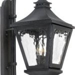 Elk-6711-C-10-by-26-Inch-Manor-2-Light-Outdoor-Wall-Lantern-with-Water-Glass-Shade-Charcoal-Finish-0