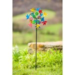 Evergreen-Birds-in-Flight-Outdoor-Safe-Kinetic-Wind-Spinning-Topper-Pole-Sold-Separately-0-0
