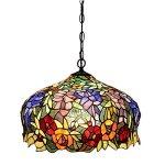 FUMAT-Tiffany-Pendant-Lights-E26-LED-Stained-Glass-Hanging-Light-Fixtures-16-Rose-Chandelier-Lighting-110V-Ceiling-Pendant-Lamp-0