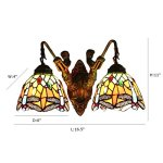 FUMAT-Tiffany-Sconce-Wall-Light-Fixtures-Dragonfly-Stained-Glass-Wall-Lamp-Mermaid-Bathroom-Mirror-Front-Light-Retro-Corridor-Light-Stair-Wall-Lights-E26-2-Heads-0-0