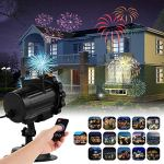 HIOTECH-Light-Projector-16-PATTERN-GOBOS-Built-In-Remote-Control-Waterproof-Design-with-UL-Certification-for-Decoration-Lighting-on-Christmas-Halloween-Holiday-Party-Light-Projector-0