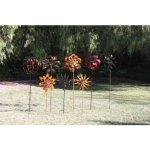 Koehler-15212-84-Inch-Rustic-Pinwheel-Garden-Windmill-0-2