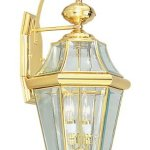 Livex-Lighting-2261-02-Outdoor-Wall-Lantern-with-Clear-Beveled-Glass-Shades-Polished-Brass-by-Livex-Lighting-0