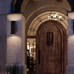 Luxury-Contemporary-Outdoor-Wall-Light-Medium-Size-18H-x-6W-with-Art-Deco-Style-Elements-Olde-Bronze-Finish-UHP1064-from-The-Hollywood-Collection-by-Urban-Ambiance-0
