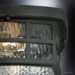 Luxury-Craftsman-Outdoor-Ceiling-Light-Small-Size-575H-x-12W-with-Tudor-Style-Elements-Highly-Detailed-Design-High-End-Black-Silk-Finish-and-Water-Glass-UQL1248-by-Urban-Ambiance-0-2