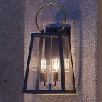 Luxury-Vintage-Outdoor-Wall-Light-Large-Size-23625H-x-1125W-with-Farmhouse-Style-Elements-Olde-Bronze-Finish-and-Clear-Shade-UHP1000-from-The-Vicenza-Collection-by-Urban-Ambiance-0-0