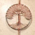 Rose-Quartz-Crystal-Tree-of-Life-Sun-Catcher-with-Crystal-Ball-PrismHandmade-Crystal-SuncatcherCrystal-Window-OrnamentFeng-Shui-Ornament-0-1