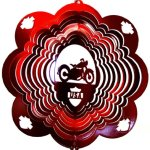 Stainless-Steel-Motorcycle-12-Inch-Wind-Spinner-Red-0