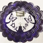 Stainless-Steel-Solar-Light-Butterfly-12-Inch-Wind-Spinner-Purple-0