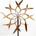Stanwood-Wind-Sculpture-Large-Kinetic-Copper-Dual-Spinner-Dancing-Willow-Leaves-Jumbo-Version-3-ft-Across-9-ft-Tall-0