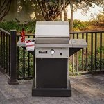 TEC-Patio-1-FR-Infrared-Grill-On-Black-Pedestal-with-Two-Side-Shelves-and-Warming-Rack-PFR1LPPEDS-PFR1WR-Propane-Gas-0-0