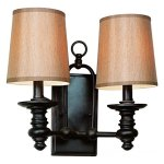 Two-Light-Rubbed-Oil-Bronze-Wall-Light-0