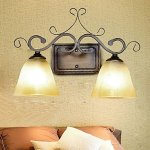Wall-Lamp2-Light-Traditional-Iron-Resin-Glass-Painting-0-0