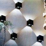 Wall-Mounted-LampWall-SconcesAwakingdemi-12W-LED-Waterproof-Garden-Lights-Corridor-Wall-Lamp-Hotel-Lights-Up-and-Down-Design6000KBlack-Cold-Light-0-0
