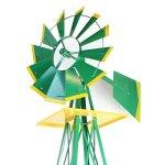 XtremepowerUS-8FT-Green-Metal-Windmill-Yard-Garden-Wind-Mill-0-1