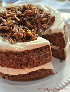 Caramelized Apple Spice Cake with Brie Icing   Farmgirl Gourmet