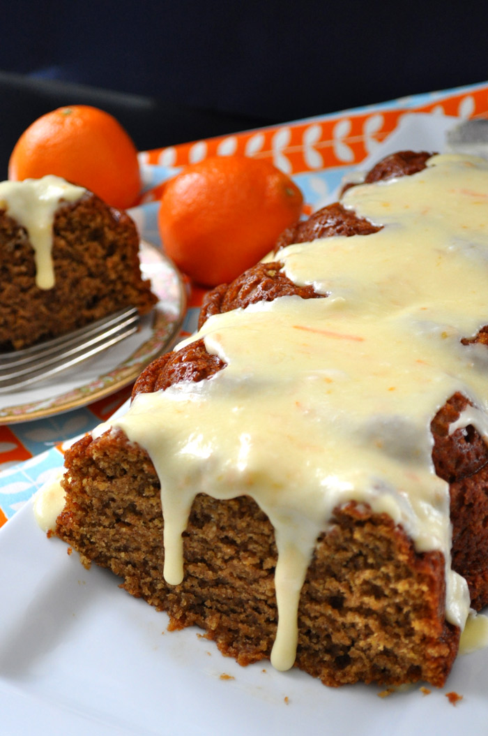 Butternut Squash Cake with Clementine Glaze | farmgirlgourmet.com