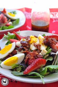 Strawberry Salad with Bacon and Blue Cheese   farmgirlgourmet.com