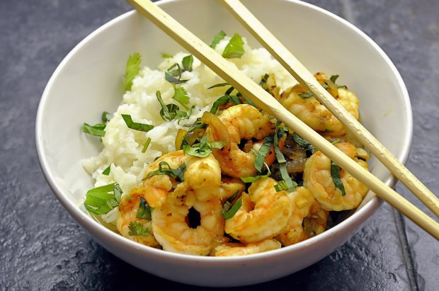Shrimp with Basil Thai Style via farmgirlgourmet.com