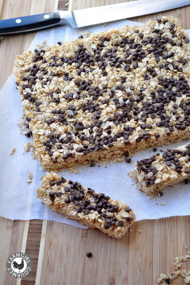 Chewy chocolate chip granola bars farmgirl gourmet