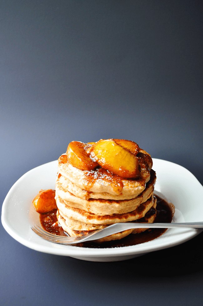 Whole Wheat Applesauce Pancakes | farmgirlgourmet.com