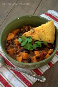 Turkey & Yam Chili | farmgirlgourmet.com