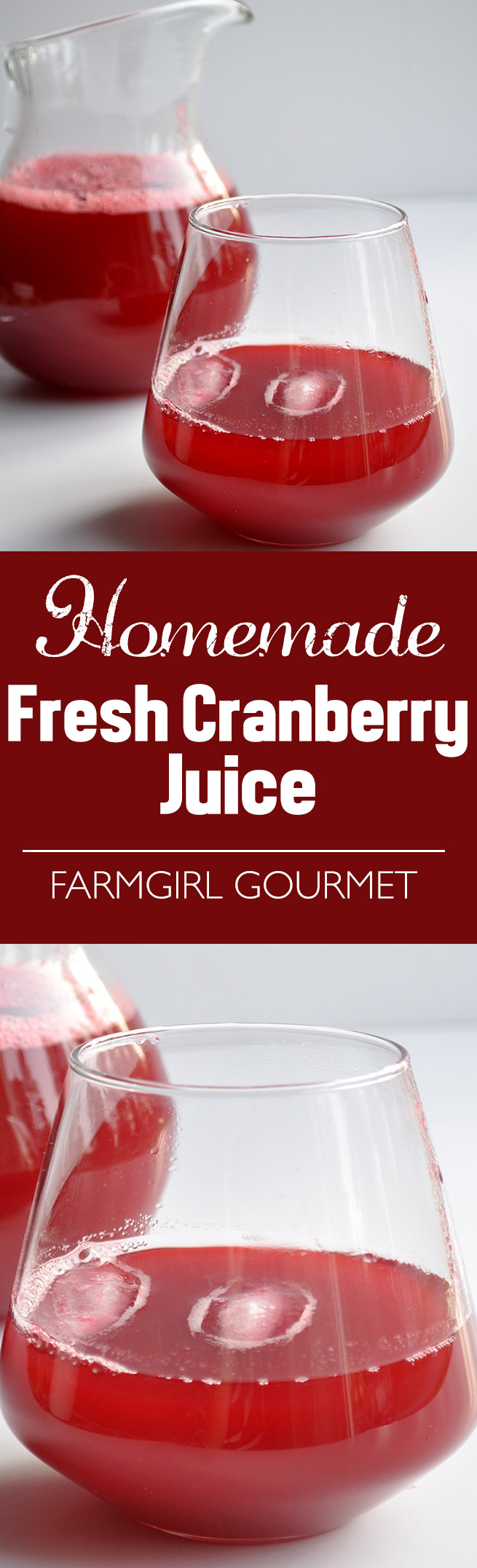 Homemade Fresh Cranberry Juice | farmgirlgourmet.com