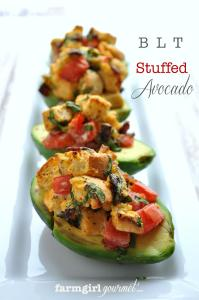 BLT Stuffed Avocado