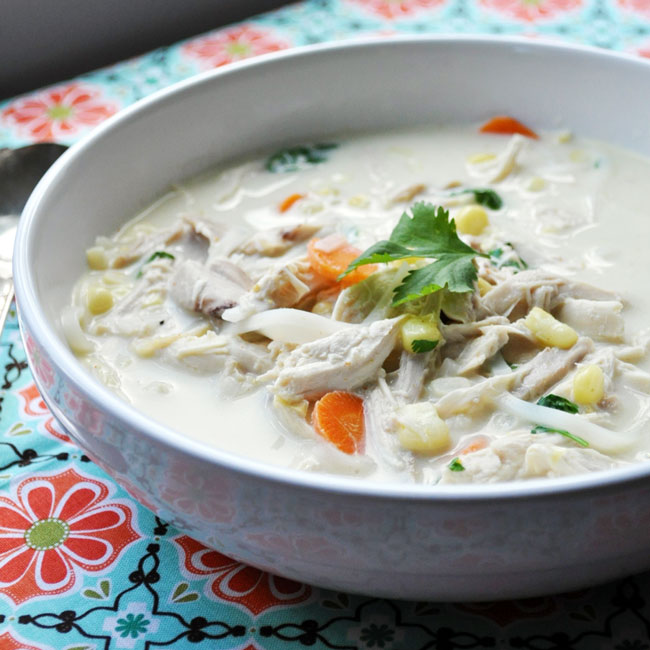 Creamy Thai Chicken Chowder | farmgirlgourmet.com