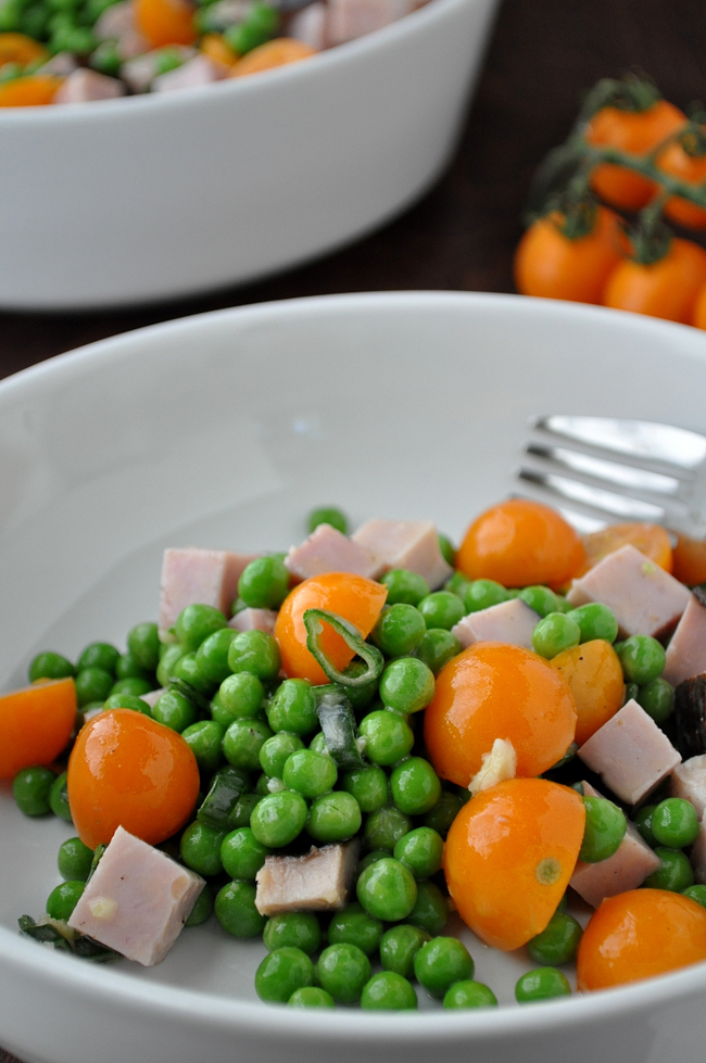 Pea, Tomato & Ham Salad