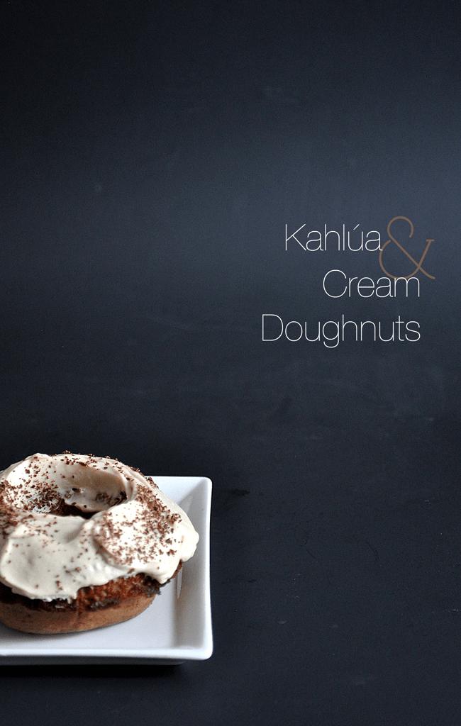 Kahlúa Cream Doughnuts | farmgirlgourmet.com #doughnutweek #bakeddonuts