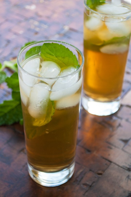 Sweet Green Tea & Ginger Mojito | farmgirlgourmet.com #truvia