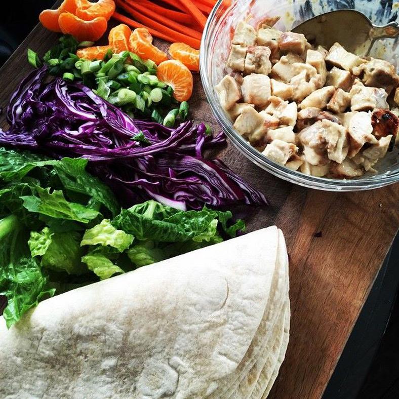 Chinese Chicken Wraps | farmgirlgourmet.com