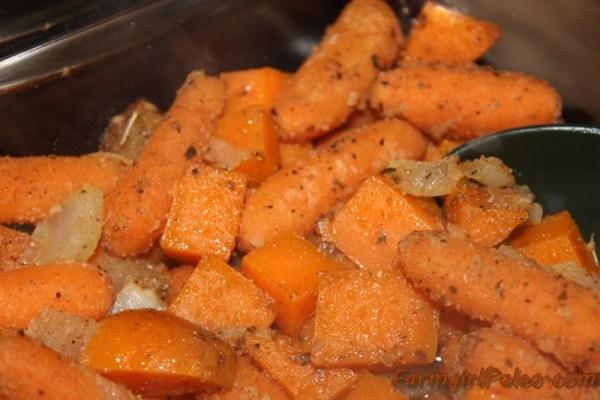 Seasoned Carrots and Sweet Potatoes