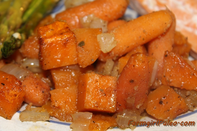 Seasoned Carrots and Sweet Potatoes