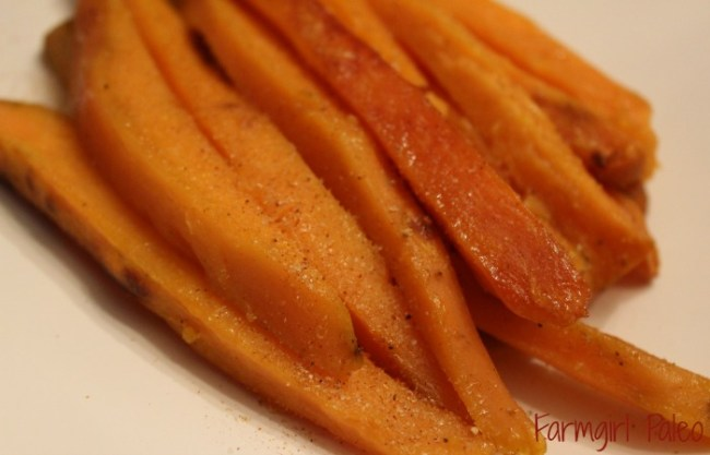 Oven Roasted Sweet Potato ries 2