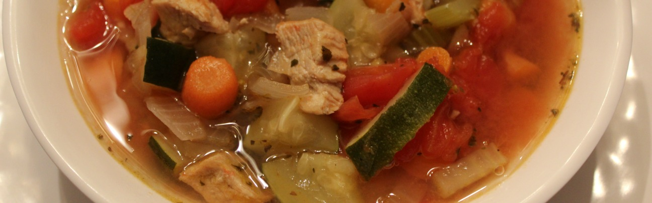 Turkey Minestrone Slider