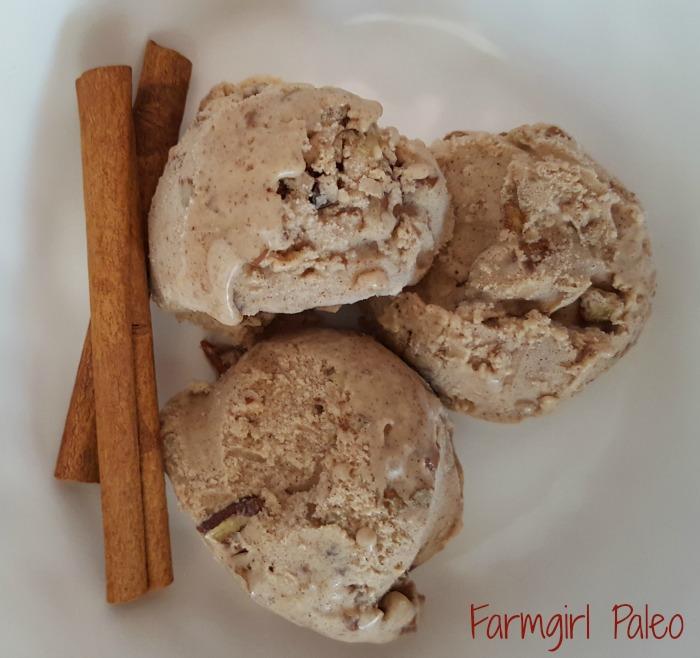 Paleo Cinnamon Pecan Ice Cream
