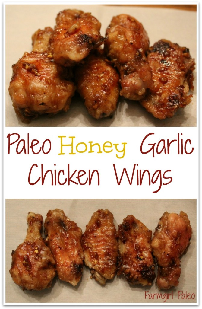 Paleo Honey Garlic Chicken Wings