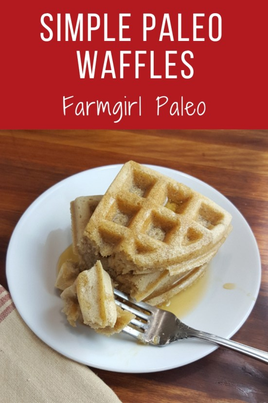 Simple Paleo Waffles Pinterest Image