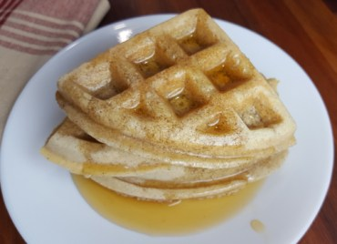 Simple Paleo Waffles with Syrup