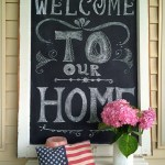 DIY Chalkboard Welcome Sign For Your Porch