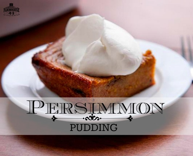 Persimmon Pudding recipe home baked