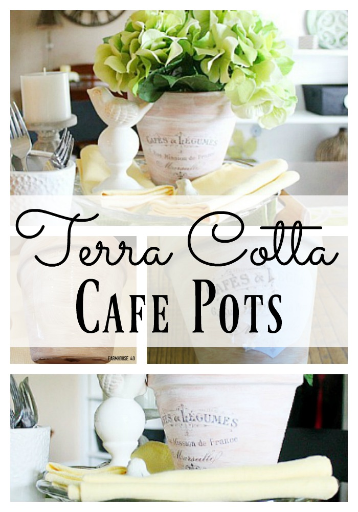 Make your own Terra Cotta Cafe Pots in minutes