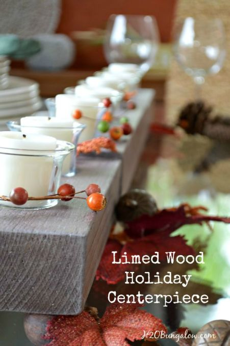 DIY-Limed-wood-Holiday-candleholder-centerpiece-H2OBungalow