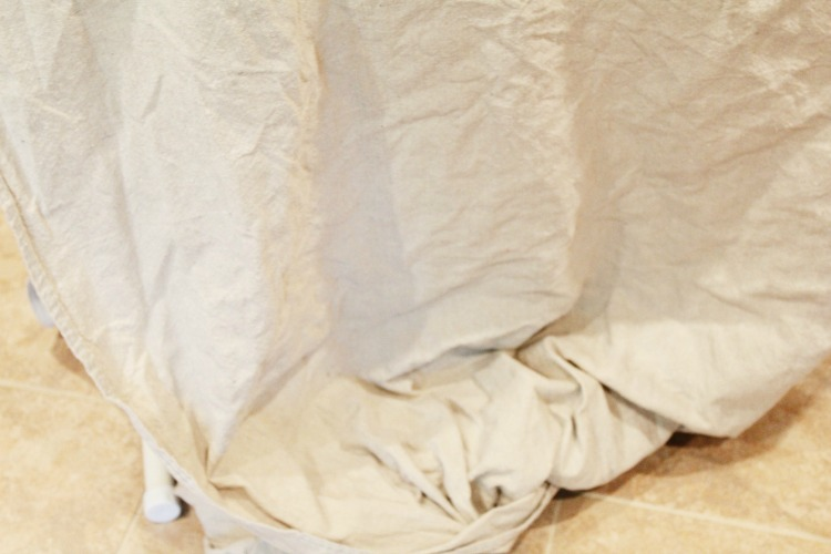 How to prep drop cloth