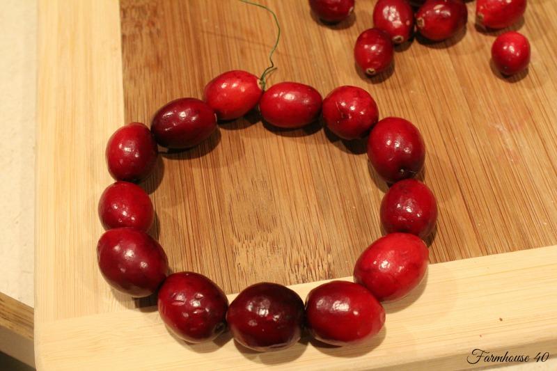 cranberry wreath 3486