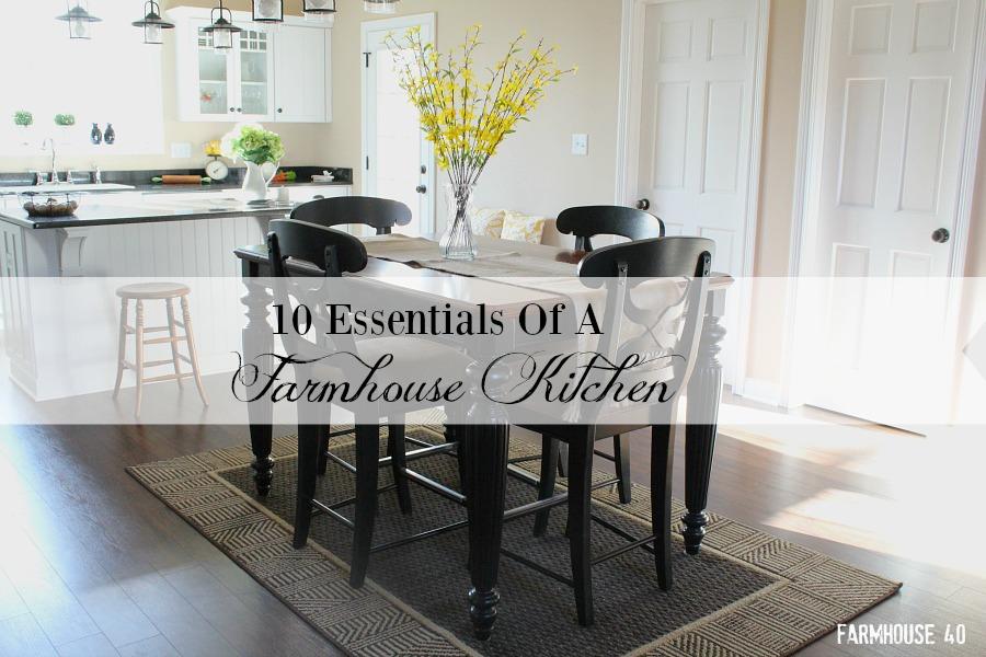 essentials for a farmhouse kitchen